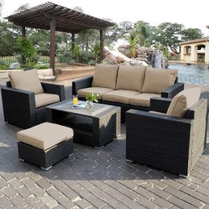 Fashion Leisure Garden Furniture Wicker Sitting Room Rattan Sofa Set pictures & photos