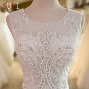 SL-29 Luxury Beads Tulle Lace Appliques Mermaid Wedding Dress 2017 pictures & photos