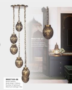Antique Brass Restaurant Pendant Light (M007103-06) pictures & photos