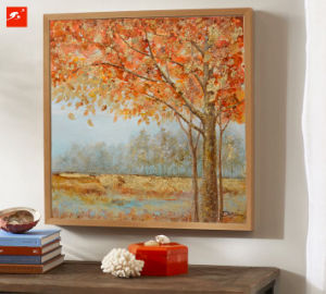 Golden Trees Peaceful Countrside Oil Painting pictures & photos