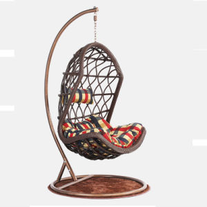 Garden Furniture Hanging Chair Wicker Egg Chair Outdoor Rattan Swing Chair (D013) pictures & photos