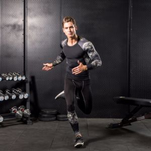Man′s Camouflage Gym Wear Compression Long Sleeve Tight Sportswear