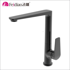New Design High Quality Brass Black Single Handle Kitchen Mixer Faucet pictures & photos