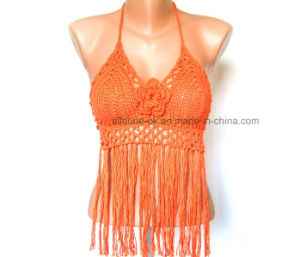 OEM Ladies Fashion Fringe Lace Sexy Hand Crochet Tops pictures & photos