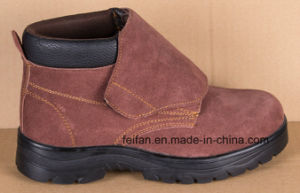 Suede Leather Safety Shoe with Different Color pictures & photos