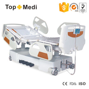 Topmedi Foldable Steel Frame Five Function Electric Power Hospital Bed pictures & photos