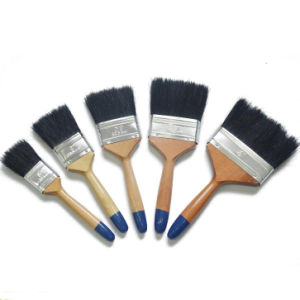 Professional Black Bristle Blend Varnished Wooden Handle Flat Brush (GMPB024) pictures & photos