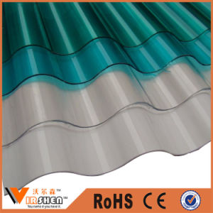PVC Clear Polycarbonate Transparent Corrugated Plastic Roofing Sheet pictures & photos