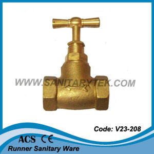 Brass Lockable Stop Valve (V23-222) pictures & photos