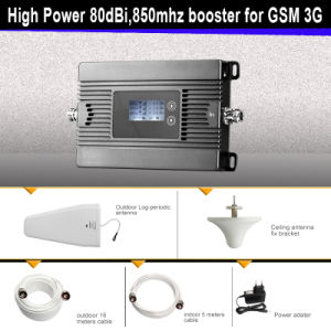 High Gain 80dBi, 25dBm, 850MHz GSM 2g 3G Mobile Signal Booster pictures & photos