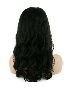 "18"" #1b Body Wave Front Lace Wig pictures & photos"