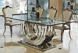 Modern Top Marble Dining Table with Wooden Cabinet (A8054) pictures & photos