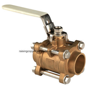 Three Pieces Brass Ball Valve pictures & photos