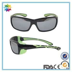 Black Frame Sunglasses Double Injection Kids Glasses