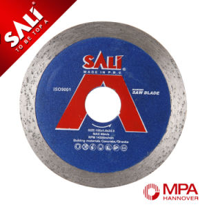 Sali Wet Cutting Saw Blade Continuous Rim Diamond Saw Blade pictures & photos