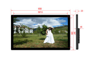 Large Size Full HD 1080P 27 Inch Digital Picture Frame with HDMI USB SD pictures & photos