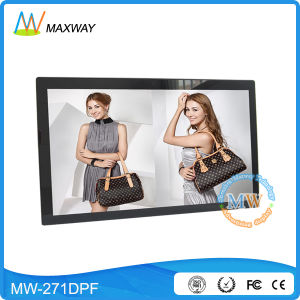 Vesa Wall Mount or Desktop 27 Inch Large Screen Digital Photo Frame Display pictures & photos