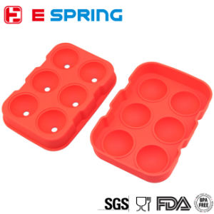 Wholesale 6 Cavity Whiskey Ice Ball Maker Silicone Ice Mold pictures & photos