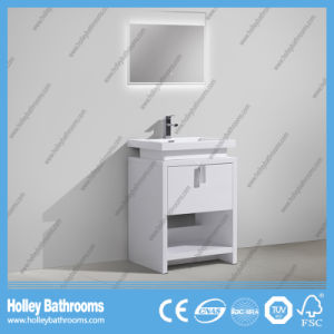 Modern Popular Floor Mounted Bathroom Cabinet with LED Lamp (BF384D) pictures & photos