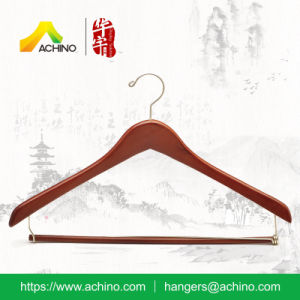 Wooden Contoured Jacket Hangers (WCJS100-Cherry) pictures & photos