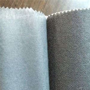 100%Polyester Nonwoven Fusible Interlining, Weft Insert Yarn Bonding Interfacing pictures & photos