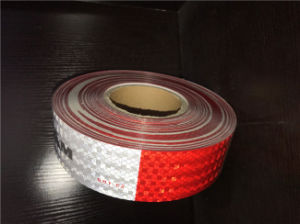DOT C2 Pet Reflective Tape Red and White with Crystal Lattice Film pictures & photos