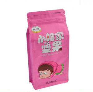Flat Bottom Stand up Pouch Aluminum Foil Zip Lock Food Bag/ Customzied Design Laminated Stand up Pouch Food Plastic Bag pictures & photos