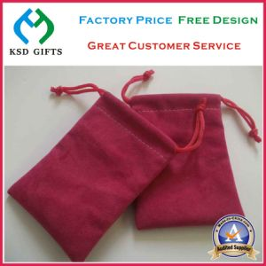 Promotional Wholesale Cheap Drawstring Velvet Bag pictures & photos