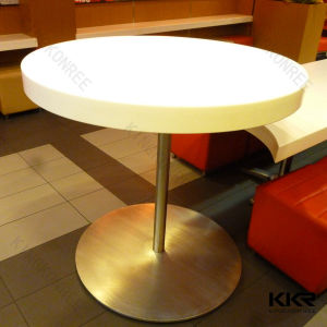 Composite Solid Surface Resin Restaurant Round Table Top pictures & photos