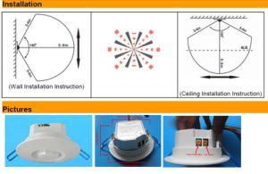 Wiring Outdoor/Indoor Infrared Light/Human Alarm Passive Sensor (HTW-L727) pictures & photos