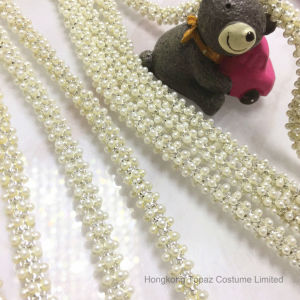 2017 New ABS Pearl Round Chain 8mm Ss38 Pearl White Claw Chain Brial Dress Pearl Chain pictures & photos