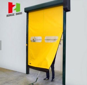 PVC Fabric Self Repairing Fast Acting Roller Shutter Doors for Pharmaceutical Industries (Hz-FC063) pictures & photos