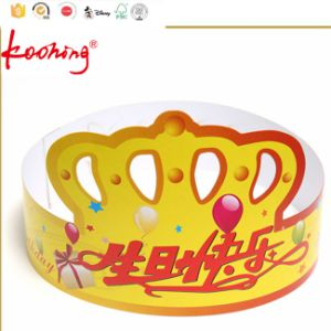 Custom Promotional Customized Printing Kids Crown Paper Birthday Party Hat pictures & photos