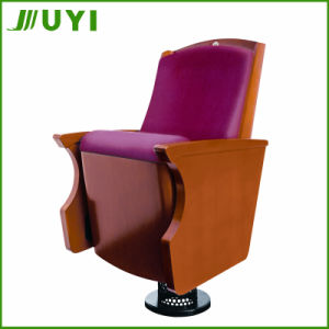 Jy-905 Lecture Hall Church Wooden Seat Folding Fabric Theater Chair pictures & photos
