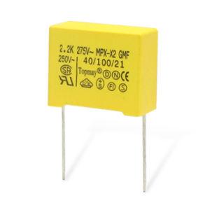 0.22UF 275VAC Yellow Metallized Polypropylene Film X2 Capacitor pictures & photos