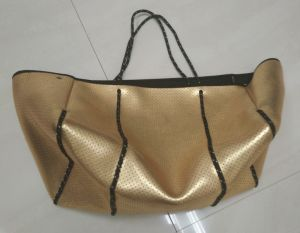 Perforated Metallic Neoprene Shopping Bag (STNB-001-05) pictures & photos