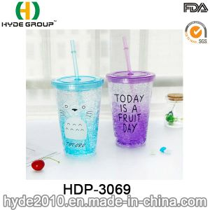 Newly 16oz Customized Plastic Double Wall Tumbler with Freezer (HDP-3069) pictures & photos
