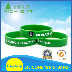 Fashion Style Silicon Wristband with Lion Head Printing pictures & photos
