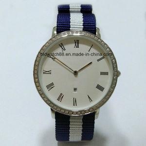 OEM Fashion Slim Watch Crystal Nylon Watch Band Popular Design pictures & photos