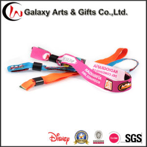 Polyester Custom Fabric Woven Personalised Wristbands