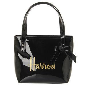 Black Bow Two Sizes Waterproof PVC Handbag (H018)