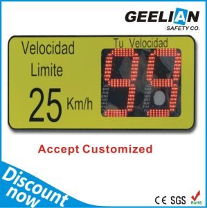 Customized Outdoor Solar Radar Speed Road Sign, Sign Manufacturer pictures & photos