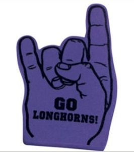 Rock Finger Foam Hand with Customer′s Logo