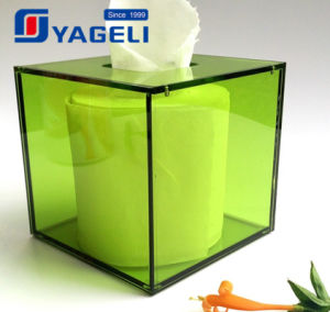 New Arrival Napkin Container Acrylic Tissue Box pictures & photos