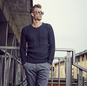 Men Round Collar Knitting Sweater pictures & photos