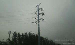 110kV Cup Shape Steel Pole pictures & photos