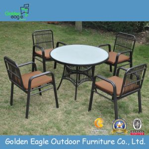 Outdoor Used Aluminum Four Seats Dining Sets (FP0246)
