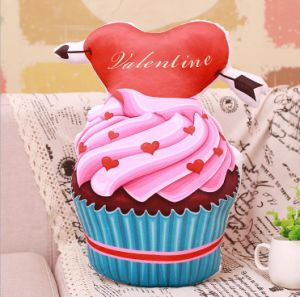 Lifelike Printing Cupcake Pillow pictures & photos