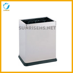 Hotel Room Rectangular Double Layer Trash Bin pictures & photos