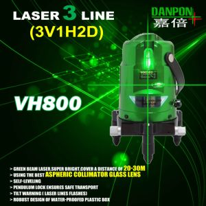 Green Multi Line 2V1h Laser Level with Plumb Dots Vh800 pictures & photos